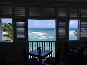 Inspiration for writing is lovely views - Atlantis hotel East Coast Barbados