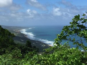 Inspiration for writing is lovely views - West coast of Barbados views over the Atlantic Ocean for writers inspiration